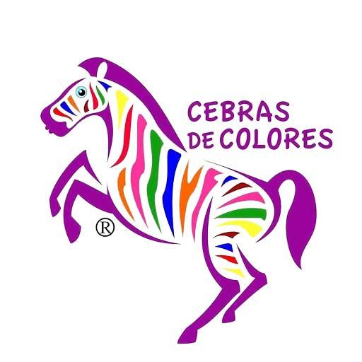 logo cebras de colores